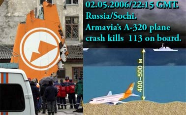 Armenian passenger planecrashed in stormy weather нсввсхж 113.