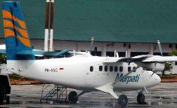 The crashed Merpati Twin Otter (PK-NVC)