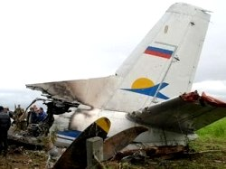 The wreckage of a Russian passenger plane that crashed is seen near the town of Igarka in the Arctic, about 3,000 km (1,850 miles) northeast of Moscow, late August 2, 2010