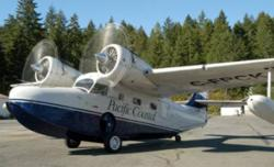 A Pacific Coastal Airlines Grumman Goose has crashed on northern Vancouver Island, rescue officials reported Sunday //Photo: cbc.ca