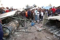 Товарен самолет Ан-26 с руски екипаж се разби в Киншаса.