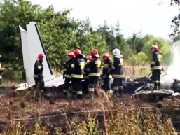 The debris of the crashed PA-31P