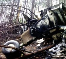 The wreckage of the plane that crashed into a mountain near Barberton, killing all nine people on board. (Volksblad)