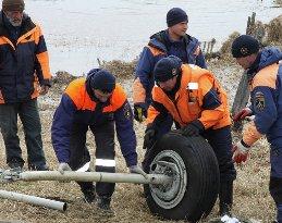 The wreckage of the crashed Mi-8 helicopter. // photo: Irkutsk Emergencies Ministry