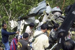 Thai air force helicopter crashes