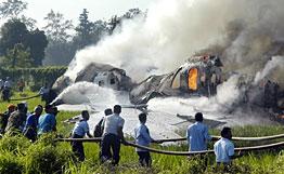 Боинг 737 на Гаруда Еърлайнс катастрофира