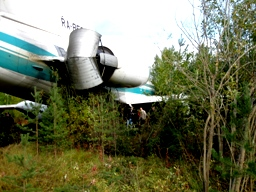 The damaged fuselage of the Tu-154 in Izhma, Komi, Russia.