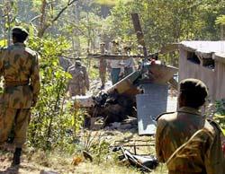 Army helicopter escorting Musharraf crashes in Azad Kashmir; four including brigadier killed.