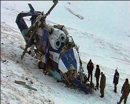 The crashed Mi-171 in Altay, Russia // Photo: amic.ru