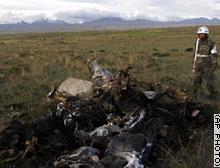 В Боливии разбился аргентинский военный самолет.