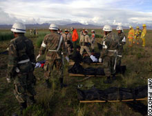 Six Argentine military officials were killed on Thursday when their plane (Learjet-35A, reg.№ T-21) crashed.