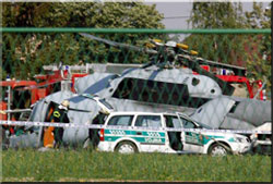 Three people were killed on Monday when a Croatian military helicopter crashed.