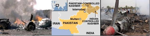 Passenger plane crashed in Pakistan.