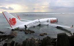 The crashed Lion Air Boeing 737-800 passenger jet (PK-LKS)