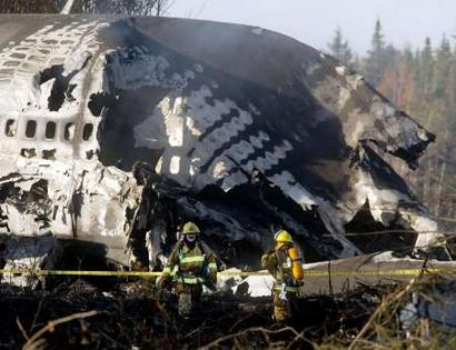 Canada//Halifax - A cargo jet Boeing-747 crashed on 14.10.2004 at 8.55 UT.