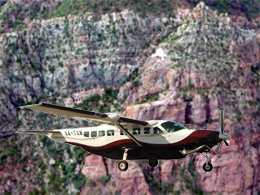 "The Cessna 208B, which crashed to the rocks of ""Sierra de La Giganta"""