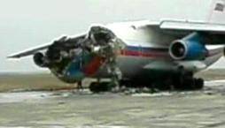 Two transport airplanes operated by Interior Ministry troops collided on the runway of the Makhachkala airport in southern Russia, killing four and injuring seriously three crew-members.