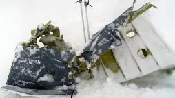 Debris after the Norwegian Hercules aircraft crashed.