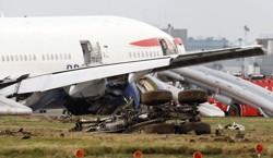 BA jet crash-lands at Heathrow