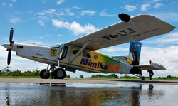 The crashed plane with a register number PK-LTJ was operated by the Mimika administration in cooperation with GT Air. (Photo by Francisco Nunez)
