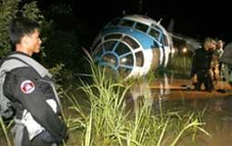 Cargo plane crashes in Cambodia