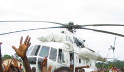 Emergency helicopter landing: Heart attack kills MONUC crew member