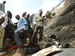 Site of the crashed plane/ Photo: www.alrakoba.net