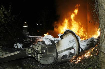 Jetstream 32 passenger plane crashed on 20.10.2004.