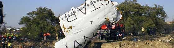 Fiery plane crash at Madrid airport kills 154