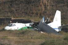 Antonov-26B crash-landed in Colombia