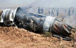 The wreckage of the crashed Adnan-1 (5-8208). Photo: Mehr news