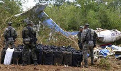 Plane carrying 3 tons of cocaine crashes in southern Mexico