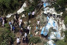 The plane crash site//Photo:AP/Heng Sinith
