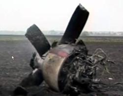 26.05.2008- The wreckage of the plane. Photo: Rian.Ru