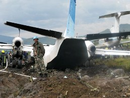 An Antonov-32 suffered an engine failure moments after take-off.