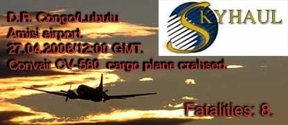 D.R. Congo: Convair CV-580 cargo plane crashed