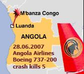 Карта авиакатастрофы