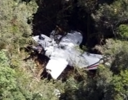 The wreckage of the crashed NBA CASA212 passenger plane