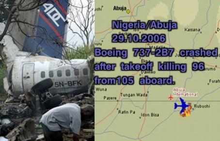 Boeing 737-2B7 crashed just after takeoff killing 96.
