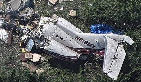 The tail part of the crashed Hawker-800 / Photo: Star Tribune