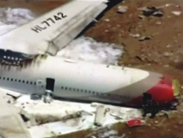 The crashed Asiana Airlines Boeing 777