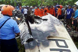 Trigana Air Service flight IL257 was destroyed when it impacted a wooded mountainside.