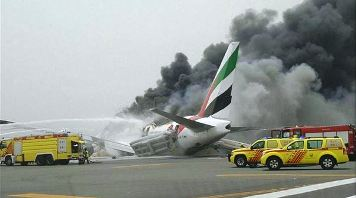 Emirates Airlines flight EK521 crash-landed at Dubai Airport