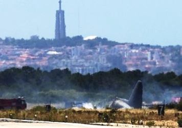 A Hercules crashed at Portugal's Montijo Airbase, 3 killed