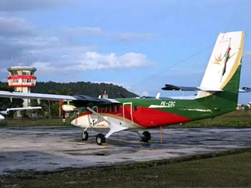 The ill-fated Viking Air DHC-6-400 Twin Otter cargo plane (PK-CDC)