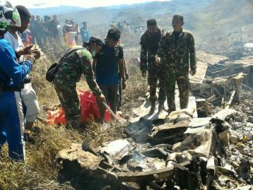 Indonesian military plane crashes in Papua, 13 killed