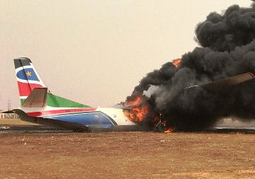 Plane crash-landed in S.Sudan, 37 injured