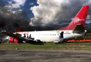 Peruvian Airlines Boeing 737 crash-landed in Jauja, Peru