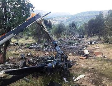 13 dead after chopper falls in burning blaze in Turkey