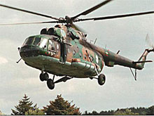 A Russian military helicopter crashed in Chechnya